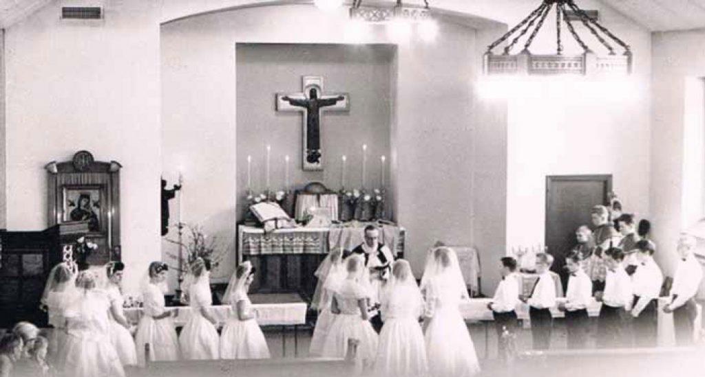 Børn til trosbekræftelse i den nye kirke