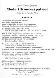 Program fra mødet i Odd Fellow Palæet september 1941